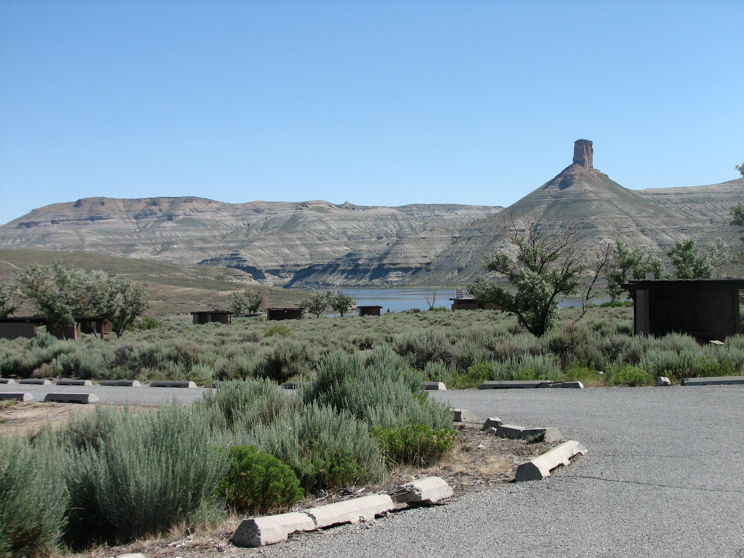 Photo of a site at the Firehole Campground.