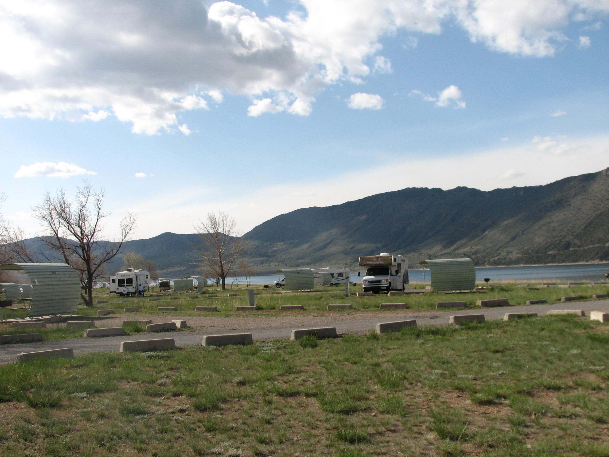 Photo of a site at the Lucerne Valley Campground.