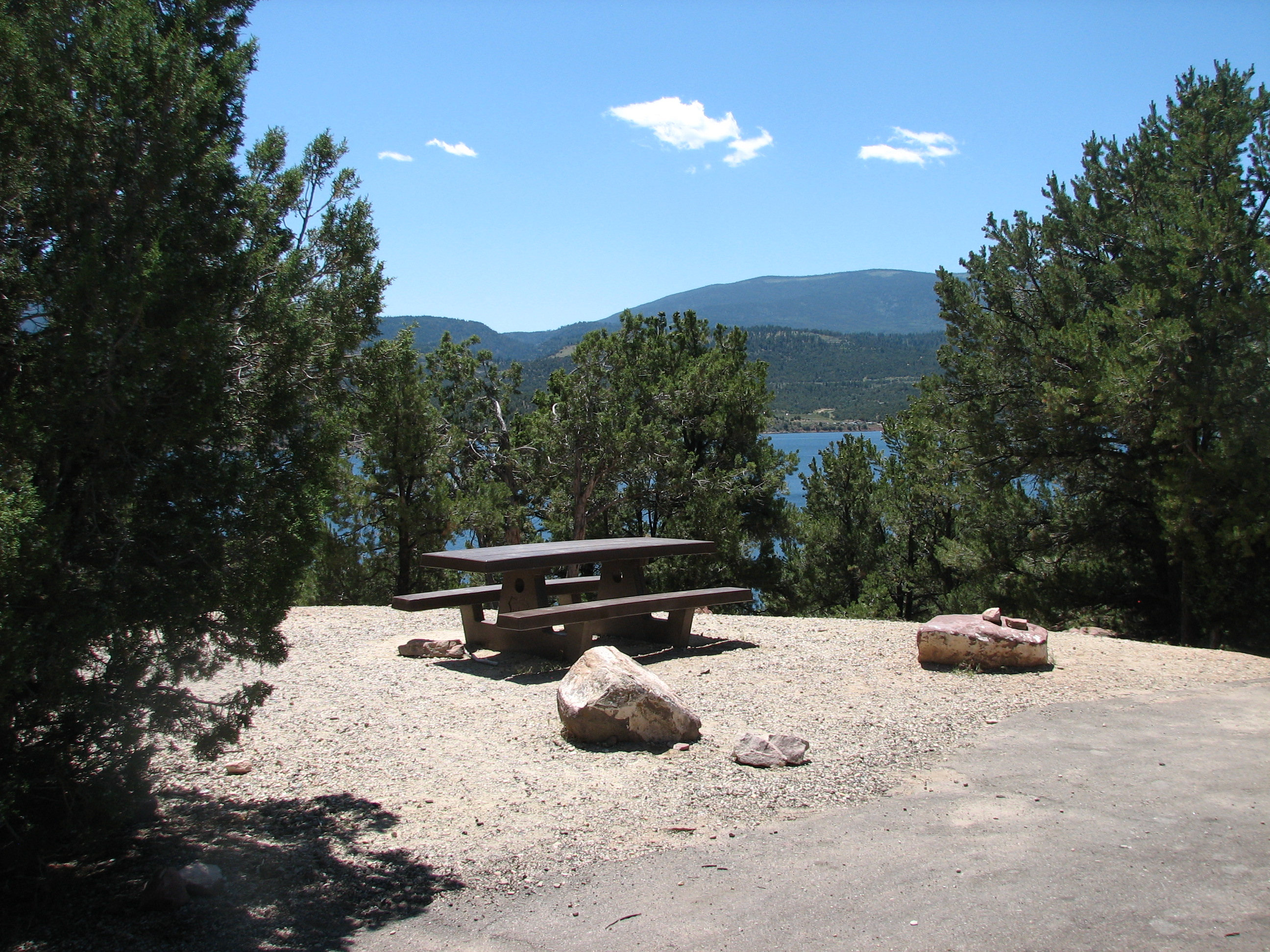 Photo of a site at the Mustang Ridge Campground.