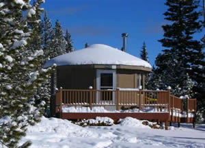 Photo of the Carter Military Trail Yurt.