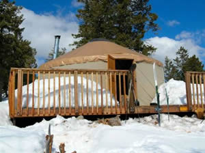 Photo of the Limber Flag Yurt.