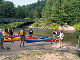 Pine National Scenic River - Dobson Bridge - boat launch