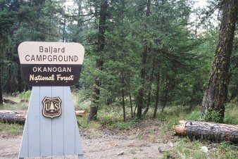 Sign for Ballard Campground