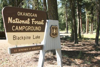 Sign at Black Pine Lake Campground