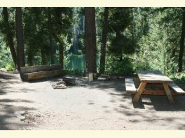 Typical Campsite at the Black Pine Lake Campground