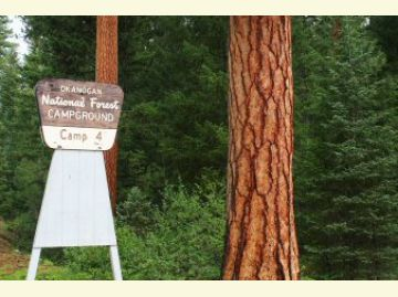 Camp Four Campground Sign