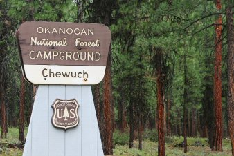 Chewuch Campground Sign