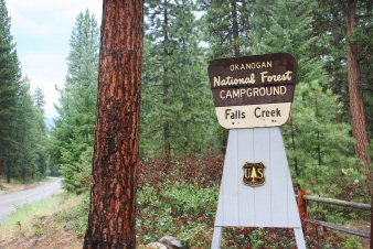 Falls Creek Campground Sign