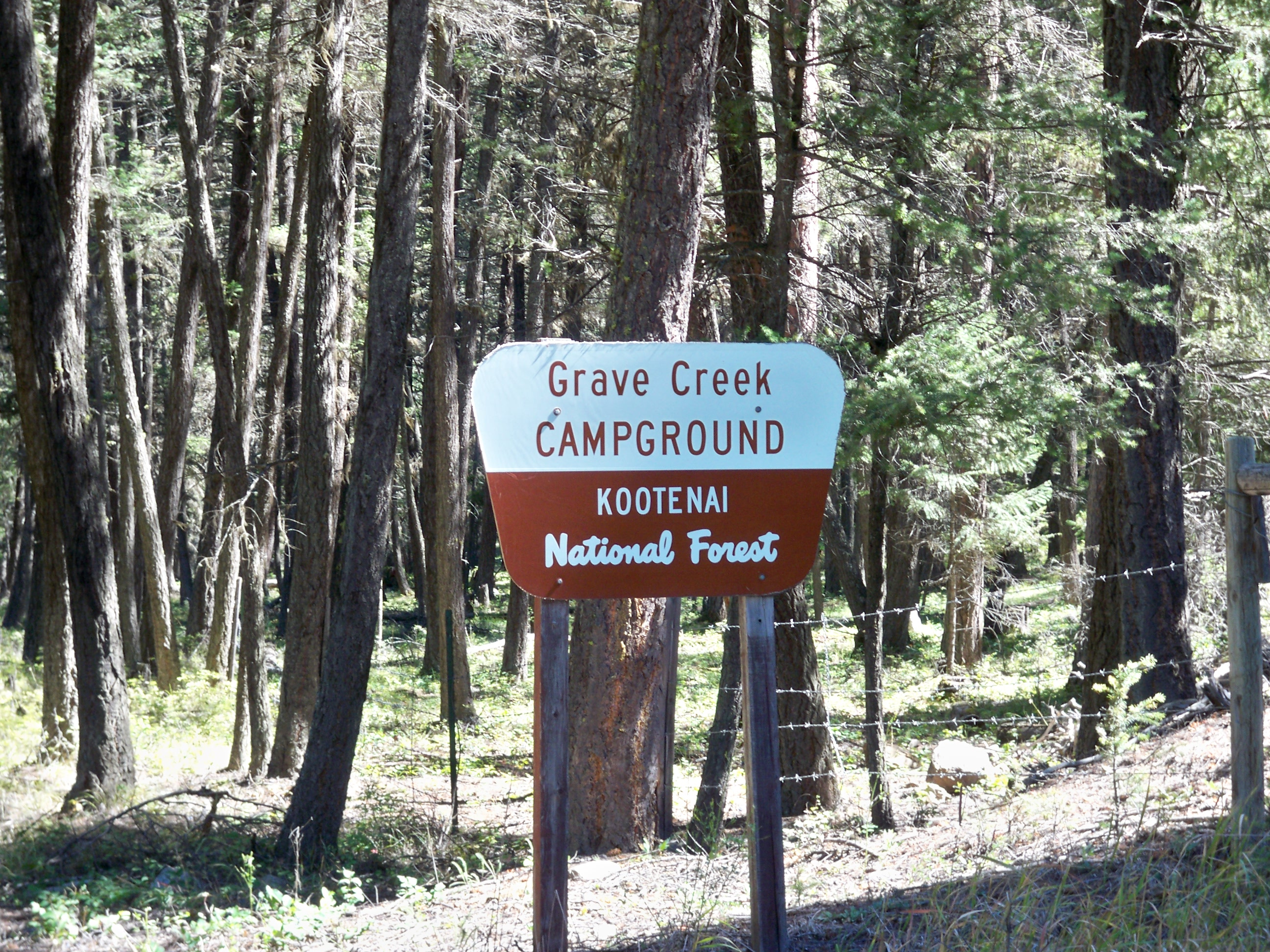 Entrance sign to campground