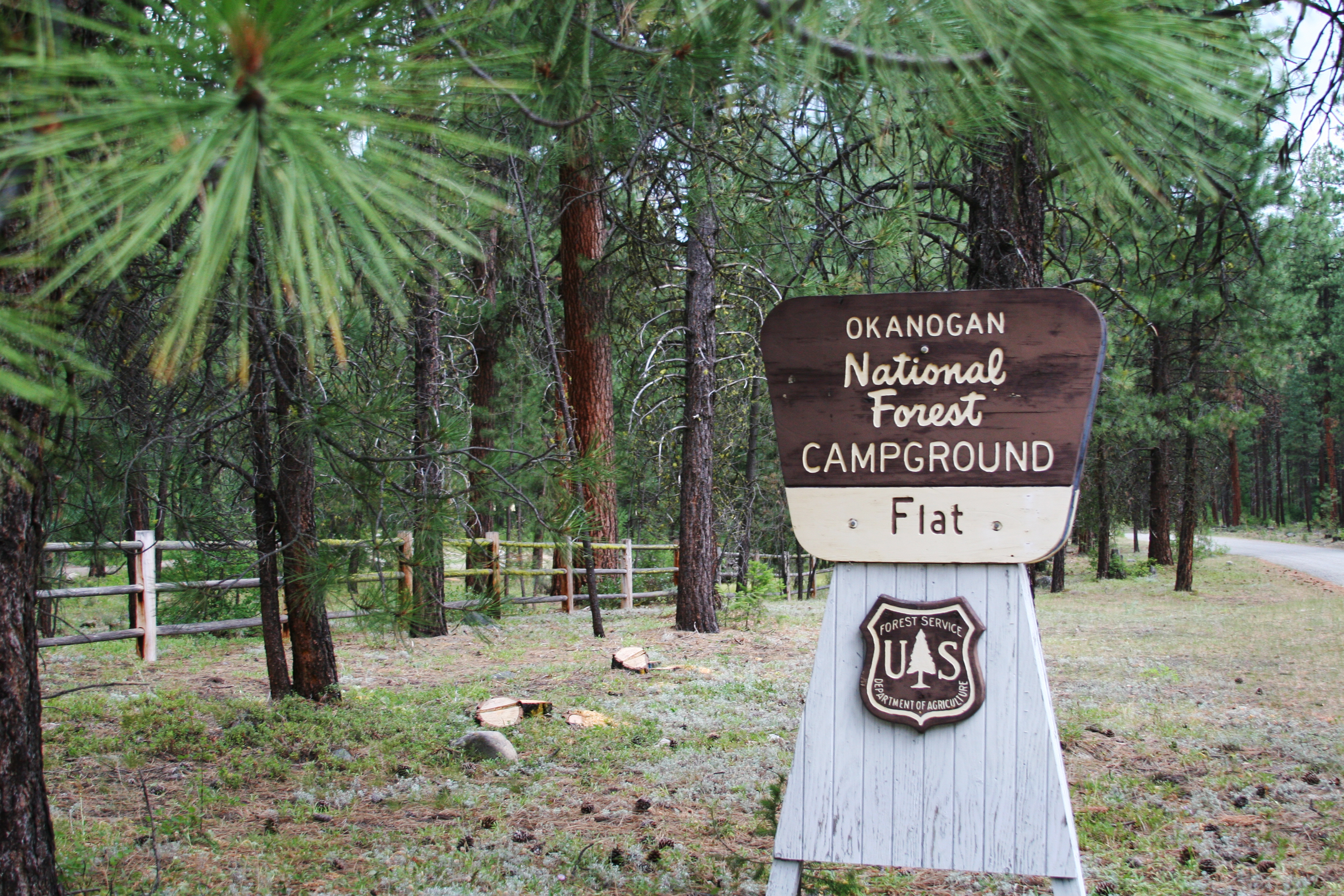 Flat Campground Entrance Sign