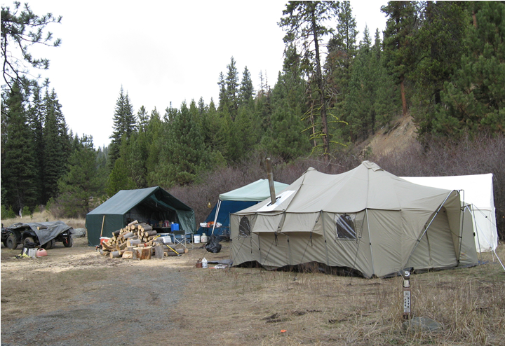 Hunting camp at Welch Creek Camp Ground