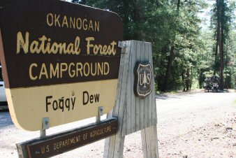 Foggy Dew Campground Entrance Sign