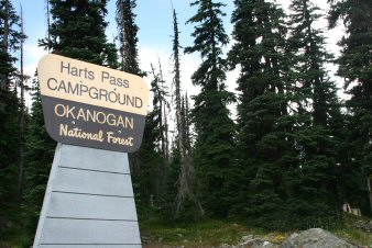 Hart's Pass Campground Entrance Sign
