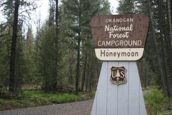 Honeymoon Campground Entrance Sign
