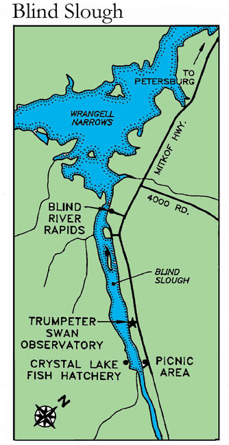 small map to Blind Slough