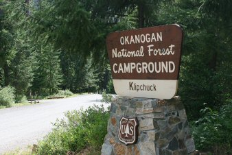 Klipchuck Campground Entrance Sign