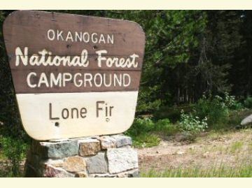Lone Fir Campground Entrance Sign