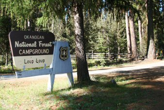Loup Loup Campground Entrance Sign