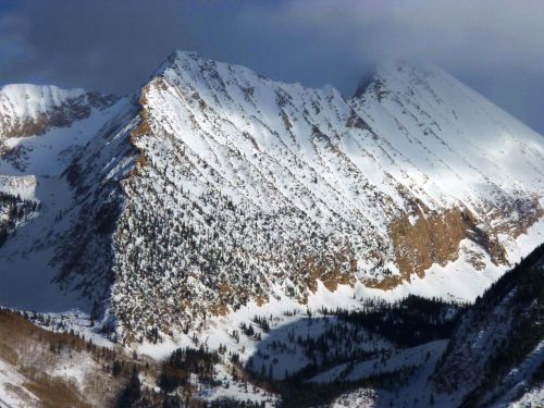 image of a peak in winter