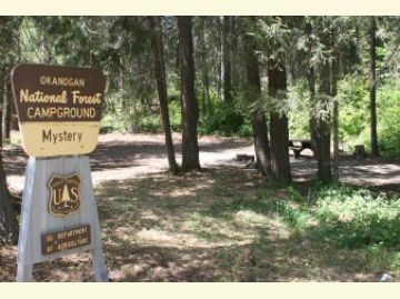 Mystery Campground Entrance Sign