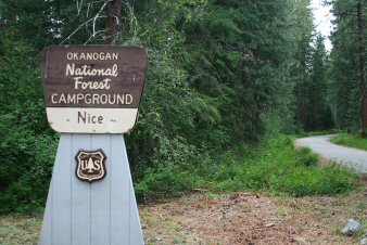 Nice Campground Entrance Sign