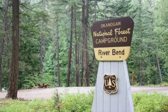 River Bend Campground Entrance Sign