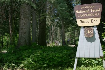 Roads End Campground Entrance Sign