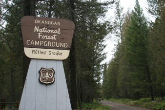 Ruffed Grouse Campground Entrance Sign