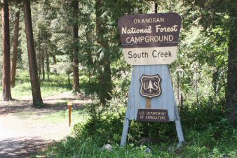 South Creek Campground Entrance Sign