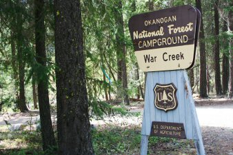 War Creek Campground Entrance Sign