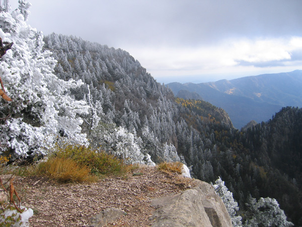Sandia Mountains in winter