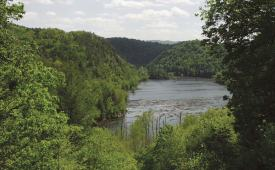 View of Hiwassee River from Hood Mountain Overlook in the Cherokee National Forest