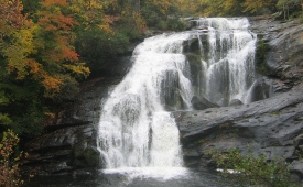 View of Bald River Falls in Cherokee National Forest