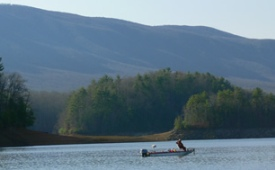 View of Holston Mountain from South Holston Lake in the Cherokee National Forest