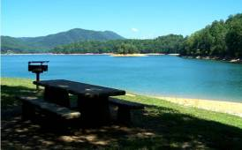 View of Picnic Site in Cherokee National Forest