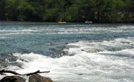 View of non-motorized boating on Hiwassee River in Cherokee National Forest