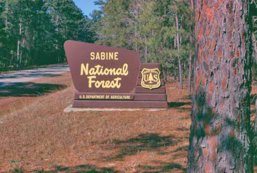Sabine National Forest Portal Sign
