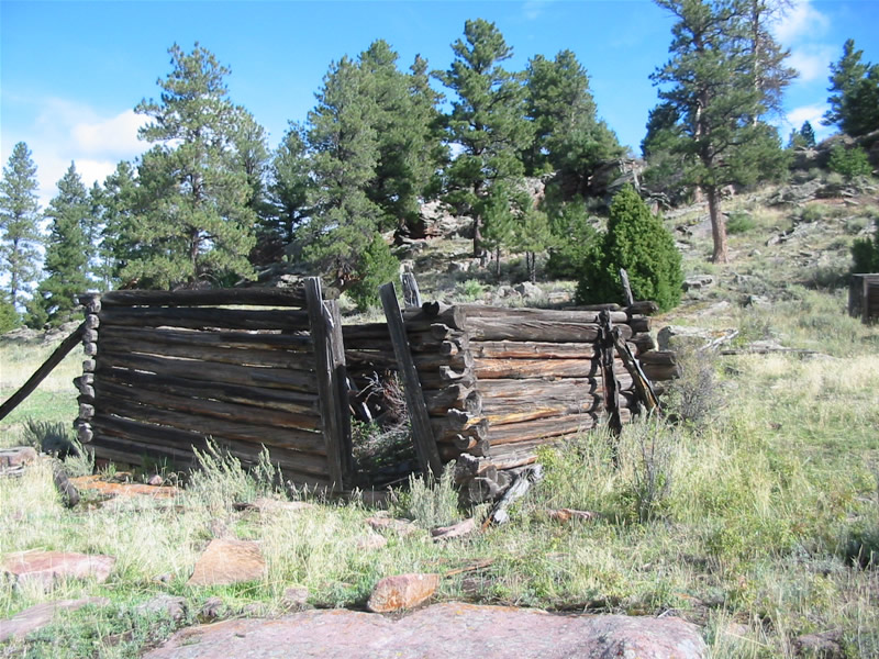 Remains of the horse barn at the ranger station.
