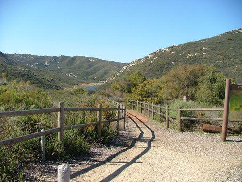 Trail to Loveland Reservoir.