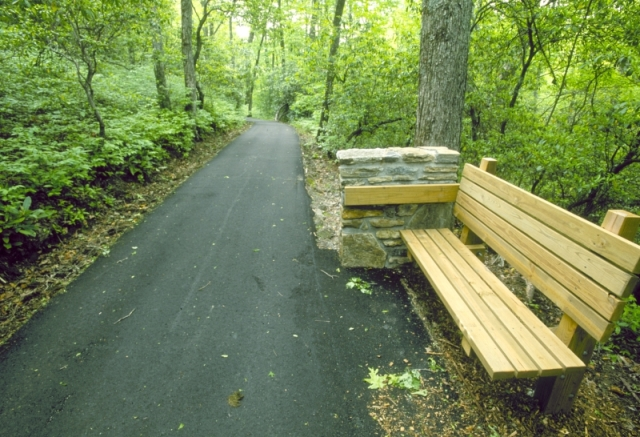 Paved trail at the Cradle of Forestry