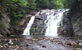 View of Laurel Fork Falls in Cherokee National Forest