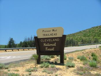 Photo of Pioneer Mail Picnic Area Sign