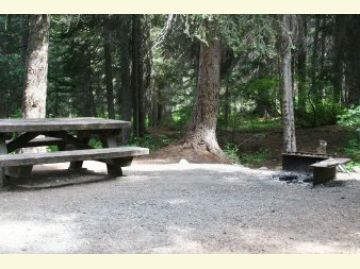 Lone Fir Campground Campsite2