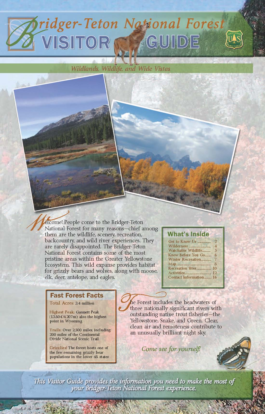 Link to Bridger-Teton NF Visitor Guide