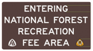 Adventure Pass Sign - Entering Rec Fee Area