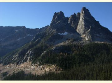 Liberty Bell Mountain from Washington Pass Overlook