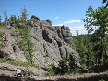 East Baldy Rock Formations