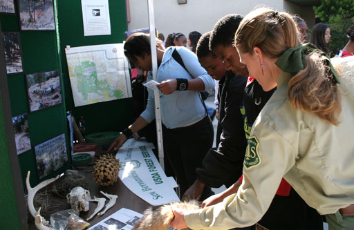 Forest Service brings the forest to a local high school