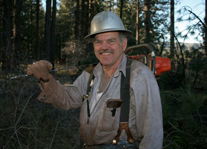 Contractor John Wingler works near Big Bear