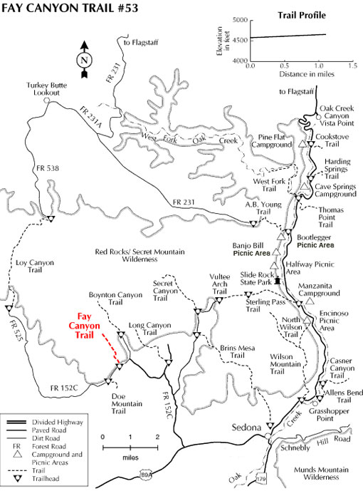Fay Canyon Trail Map
